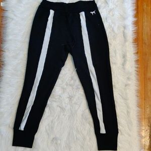 Black high-waisted  VS PINK joggers